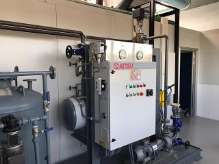 ATTSU has installed an electric thermal oil boiler in an industry specialized in the manufacture of food supplements in Barcelona