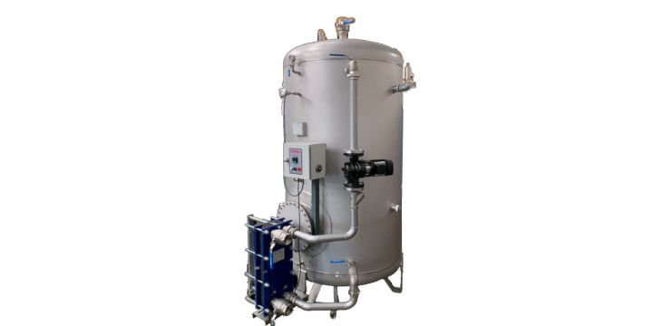 BV1X - Stainless steel AISI 316 L boiler for the production and storage of sanitary hot water.