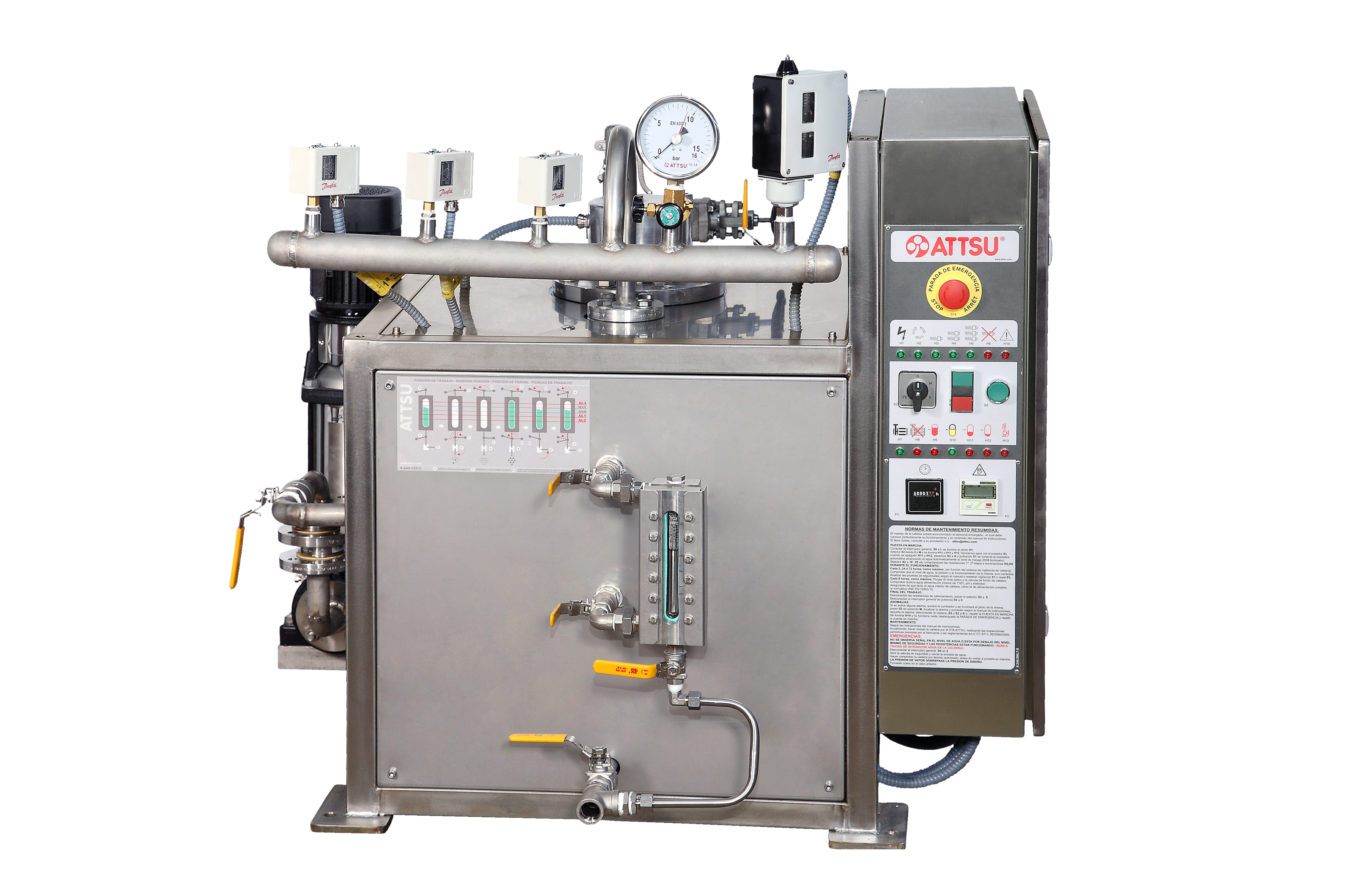 Electric Steam Boiler ~ Attsu gei inox electric steam boiler made of stainless steel
